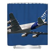 The First Airbus A380. Shower Curtain