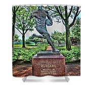 The First Football Game Monument Shower Curtain