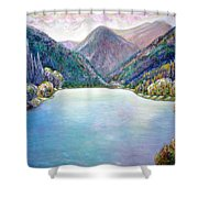 The First Frosty Morning At The Lake Shower Curtain