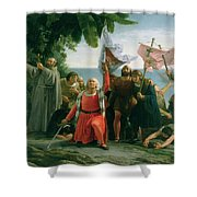 The First Landing Of Christopher Columbus Shower Curtain