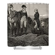 The First Meeting Of George Washington And Alexander Hamilton Shower Curtain
