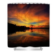 The First Night Shower Curtain