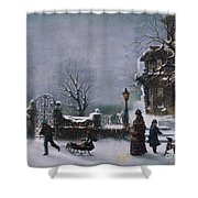 The First Snow, 1877 Shower Curtain