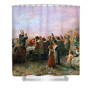The First Thanksgiving Shower Curtain