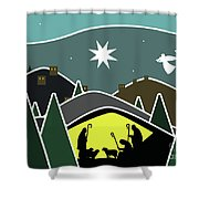 The First Visitors White Version Shower Curtain