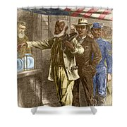 The First Vote 1867 Shower Curtain