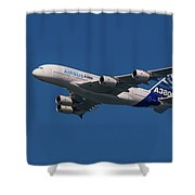 The Firts Airbus A380 Shower Curtain
