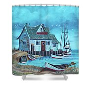 The Fish House Shower Curtain