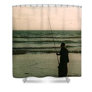 The Fish Hunter Shower Curtain
