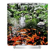 The Fish Pond At Thailand Shower Curtain