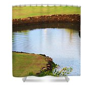 The Fish Pond Shower Curtain