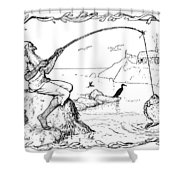 The Fisherman And His Wife Shower Curtain