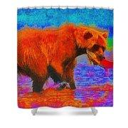 The Fishing Bear - Da Shower Curtain
