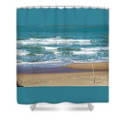 The Fishing Pole Shower Curtain