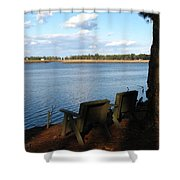 The Fishing Spot Shower Curtain