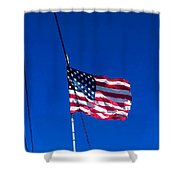 The Flag Of Usa  Shower Curtain
