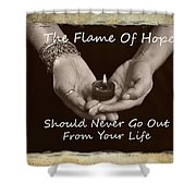 The Flame Of Hope Shower Curtain