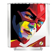 The Flash Colorful Pop Art Shower Curtain