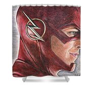 The Flash / Grant Gustin Shower Curtain