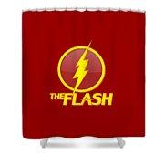 The Flash Logo Shower Curtain
