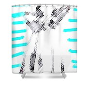 The Flash Of An Angel Shower Curtain