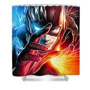 The Flash Savitar God Of Speed Shower Curtain