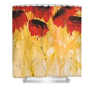 The Fleeting Nature Of Poppies Shower Curtain
