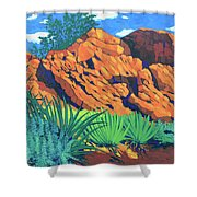 The Flicker Trail Shower Curtain