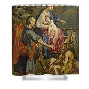 The Flight Into Egypt Shower Curtain