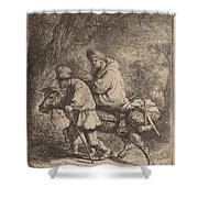 The Flight Into Egypt: Small Shower Curtain