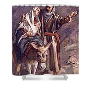 The Flight Into The Egypt Shower Curtain