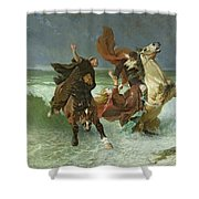 The Flight Of Gradlon Mawr Shower Curtain by Evariste Vital Luminais
