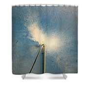 The Flight Of The White Dove Shower Curtain