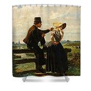 The Flirtation Shower Curtain