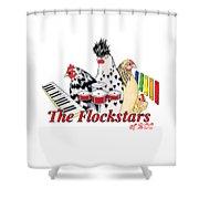 The Flockstars Shower Curtain by Sarah Rosedahl