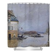 The Flood At Port Marly Shower Curtain by Alfred Sisley