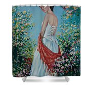The Florist In A Red Kerchief Shower Curtain