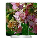 The Flower Bee Shower Curtain