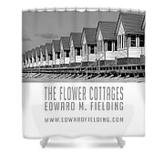 The Flower Cottages By Edward M. Fielding Shower Curtain