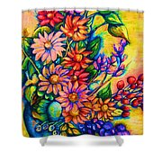 The Flower Dance Shower Curtain