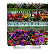 The Flower Field Shower Curtain