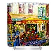 The Flowercart Shower Curtain