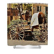 The Flowering Wagon Shower Curtain