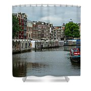 The Flowermarket Canal Shower Curtain
