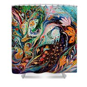 The Flowers And Sea Shower Curtain