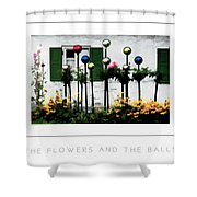 The Flowers And The Balls Poster Shower Curtain