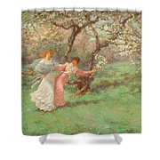 The Flowers Of May Shower Curtain