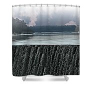 The Flowing Merrimack Shower Curtain
