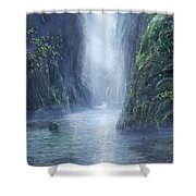 The Flowing Of Time Shower Curtain