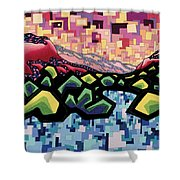 The Fluctuation Of Matter And Spirit Shower Curtain